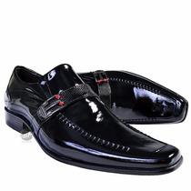 Sapato Social Masculino De Verniz 100%couro Legítimo