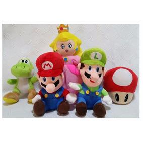 Kit Pelúcias Da Turma Do Super Mario Bros Nintendo