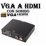 Conversor Vga A Hdmi Tv/pc Full Hd1080 1° Junta Fact A Y B.