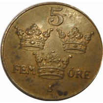 Suecia - Moneda De 5 Ore - Año: 1950