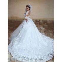 Vestido Noiva Longo Vestidos Casamento Renda Importado Festa