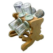 Porta Condimentos Suporte Giratório Para 8 Potes De Tempero