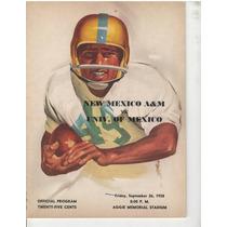 Futbol Americano Programa 1958 Pumas Vs New Mexico St