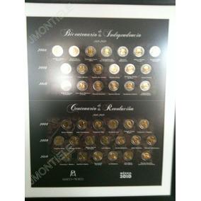 Cuadro Coleccionador De Monedas De 5 Pesos Bicentenario