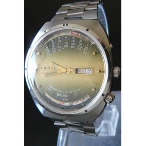 Reloj Automatico Orient 21 Rubis Triple Calendario Perpetuo