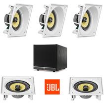 Jbl Kit Home Theater 5.1 C/ 5 Caixas De Embutir + Sub 10