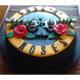 Torta Artesanal Decorada - Guns And Roses - 3 Kgs.