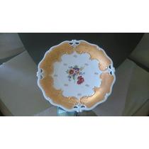 Plato De Porcelana Con Lámina De Oro Hecho En Bavaria