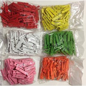 Mini Broches Madera Colores 50 Unidades Souvenir Microcentro