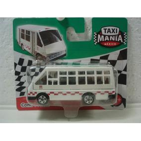 Taxi Mania Micro Estado De Mexico Blanco 1:64