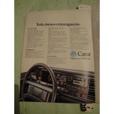 Publicidad Volkswagen Carat Año 1987