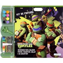 Kit Pintura Tartarugas Ninja Multikids