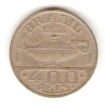Moedas Antigas - 400 Réis 1938 ( Oswaldo Cruz )