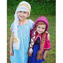 Gorros Tejidos De Frozen Y Princesas Para Niñas