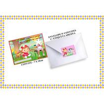 30 Convites Personalizados + Envelope