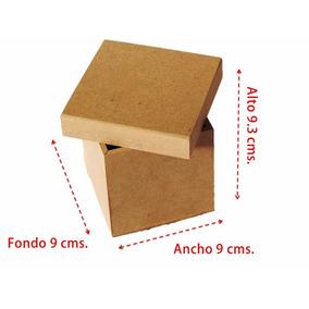 Caja 9x9 Mdf Recuerdo Dulcero Alhajero Fiestas Infantiles