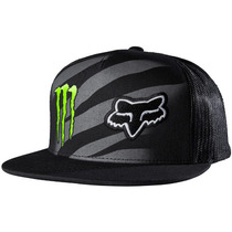 Boné Fox Monster Zebra Snapback Preto Único Rs1