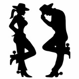 Adesivo Decorativo Sertanejo Cowboy Country Casal