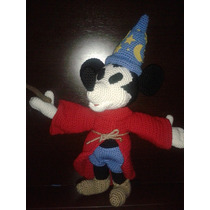 Muñeco Mickey Mouse Fantasia Crochet Artesanal Amigurumi