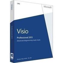 Kit 3 Visio Professional 2013 Português Brasil 32/64 Bit