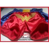 Shorts De Muay Thai Feminino Mulher Maravilha