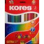 Creyones De Madera Kores X 48 Colores + Sacapunta