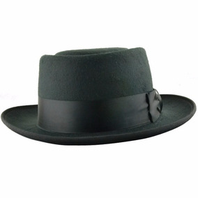 Sombrero Negro Ala Corta Vintage Hipster Funky D-014