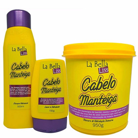 La Bella Liss Kit Cabelo Manteiga Sh + Másc 950g + Leave-in