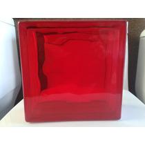 Vidrioblock Domos Baño Rojo De 19x19x08