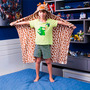 Cobertor / Manta Infantil Microfibra Com Capuz Girafa