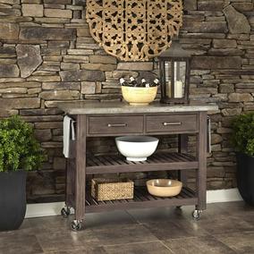 Home Styles Concrete Chic Weathered Brown Carro De Cocina