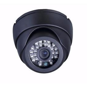 Kit 5 Camera Dome 24 Leds Ccd Infra Vermelho Linhas Cftv 3,6