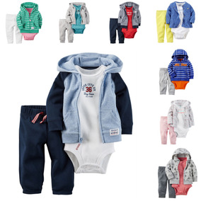 Carters Conjunto 3 Peças Calça Body Blusa Roupa Infantil Fri