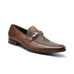 Sapato Esporte Fino Masculino Em Couro Slv 13001