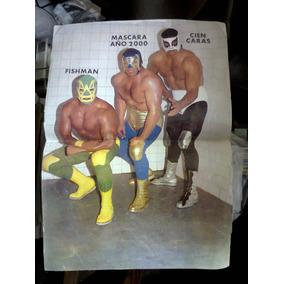 Poster Lucha México Máscara Año 2000 Cien Caras Original 90s