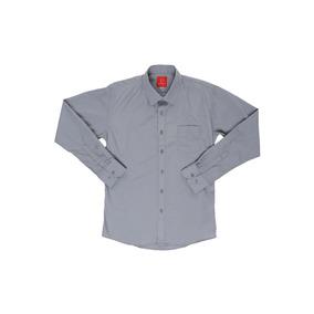 Camisa De Vestir Gris Oscar De La Renta Slim Fit Niño