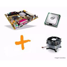Kit Placa Mae Processador E Memória Lga 775