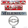 Emblemas Corsa Sedan Milenium - 00 À 02 - Modelo Original