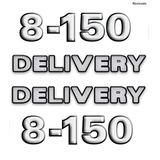 Jogo Completo De Emblemas Caminhao Volkswagen 8-150 Delivery