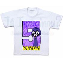 Camiseta Jovens Titãs Ravena Blusa Teen Titans Go Em Algodão