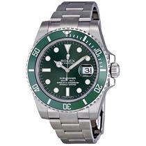 Relogio Rolex 116610l Submariner Green Dial Original Novo