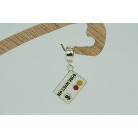 Berloque Charms Esmaltado Cartão Credito (l) Prata 925
