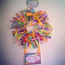 Corona Decoracion Puerta Baby, Nacimiento, Bebe, Clinica