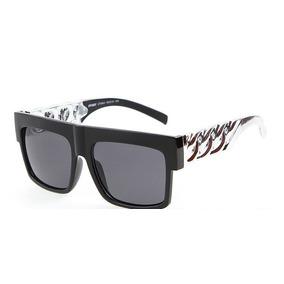 Oculos Haste De Metal Corrente Luxo Cor Prata Hip Hop