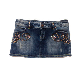 Ropa Damas Casual Falda Corta Jeans Tell Style