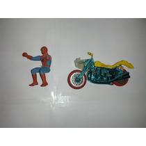 Heróis Gulliver - Homem Aranha + Moto Capitão América