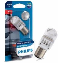 Lampada Led Philips - Led Vision P21/5 - Luz De Freio 2 Polo