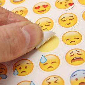 Cartelas 48 Adesivos De Emoji Alto Colante Frete Por R$6,00