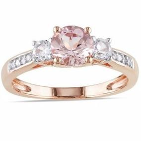 Anillos Comprmiso 18kt 1.04ct Diamantes Naturales Y Zafiros
