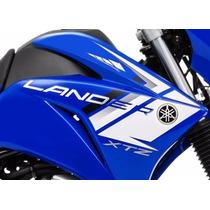 Jogo De Adesivo Faixas Lander Xtz 250 2014 Azul